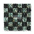 Flores Green & Black Alor natural stone Mosaic Pebble 30x30cm