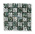 Flores Green & Snow White natural stone Mosaic Pebble 30x30cm