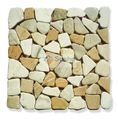 Honey Mixed from natural marble stone, coated or not coated, 30x30cm
